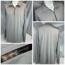 Nike Tiger Woods Golf Pullover L Men Gray ¼ Zip Poly No Flaws YGI B0-299