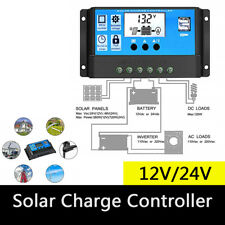 12V/24V Solar Panel Battery Regulator Charge Controller 30A PWM LCD High Quality