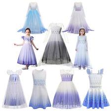 Children's Elsa Princess Gradient Sequins Dress Up for Girls Lace Mesh Clothing