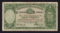 Australia R-31F. (1949) One Pound - Coombs/Watt... 1st Prefix K/97.. Fine