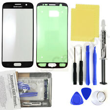 Black Samsung Galaxy S7 G930 Front Glass Screen Replacement Repair Kit