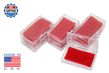 10 Pack Orthodontic WAX For BRACES Irritation - CHERRY SCENTED - Dental Relief