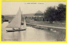 cpa Lorraine 54 - PONT à MOUSSON (Meurthe et Moselle) La NAUTIQUE Voilier Barque
