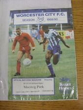 15/11/1989 Worcester City v Maesteg Park [Welsh Cup Replay] (4 Pages). Good cond