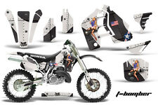 Honda CR500 With # Plate Graphics Kit Dirt Bike Wrap MX Decals 1989-2001 TBOMB K