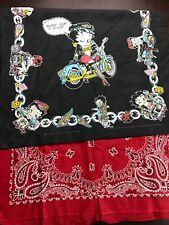 2 Made Usa Bandana Bety Boop 14193 Red Paisley
