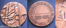 MEDAGLIONE 1923-1973 GRUPPO MEDAGLIE D'ORO AL VALORE MILITARE ROMA FIRMATA BEN72