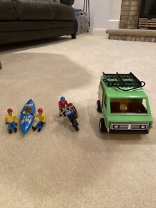 Fisher price adventure set 318 With 3 People Kayak/Van/Motorcycle