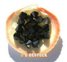 2 Perles Toupies 8mm Cristal Swarovski - JET HEMATITE
