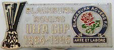 BLACKBURN ROVERS FC Rare 1994-95 UEFA CUP Badge Stud fitting In gilt 28mm x 13mm