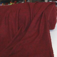 bordeaux schwarz Woll-Stoff Wolltuch Boucle Stoff Meterware Mantel Jacke Tolko