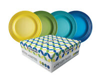 Le Creuset 4 Colors Appetizer/ Dessert Plates (Set Of 4) - Brand New in Gift Box