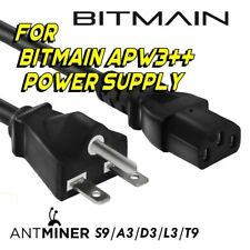 5 pack BITMAIN APW3++ 220v 240v HEAVY DUTY Power Cord Cable Antminer S9 L3+ T9!