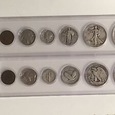 5 Coin Vintage Set/Collection Walking/Standing/Mercury/Buffalo/Steel #5