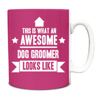 This is what an AWESOME Dog Groomer Looks like Mug Gift idea coffee cup 067