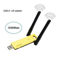 1200Mbps Dual Band Wireless USB3.0 WiFi Adapter Extender Dongle Antenna 2.4G