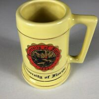 Florida Gators Stein VTG Beer Mug Large University Pale Yellow Drink Gold Alumni