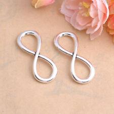 Tibetan Silver Infinity 8 sign Charm Bracelet Connectors Pendant Beads #80