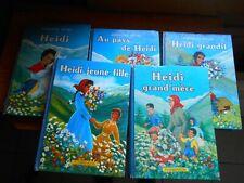Lot de 5 livres HEIDI - Johanna Spyri