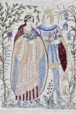 Gobelin Stickbild König und Königin