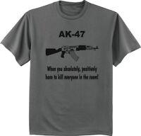 Big and Tall t-shirt funny AK-47 second amendment gun rights tee