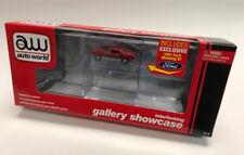 Six-Car Interlocking Acrylic Display Case w Car AUTO WORLD DIE-CAST 1:64 MUSTANG