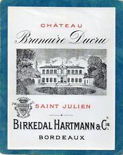 ST JULIEN 4EGCC VIEILLE ETIQUETTE CHATEAU BRANAIRE DUCRU 1890/1900    §07/03/18§