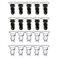20 White Black Women Garter Belt Straps Corset Suspenders Clips Hooks 26mm