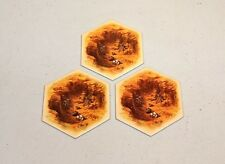 Settlers of Catan hex tiles - 5th edition - Brick/Hills - set of 3