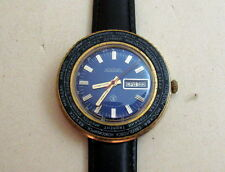 Raketa (Rocket) World Time Vintage USSR Russian Gold Plated Men's Watch 2628.H