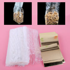 50pcs Cellophane Bags Gold Wedding Xmas Favor Biscuit Cupcake Party Bags +Gusset