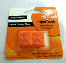 Fiskars 9675 Triple Track Personal Paper Trimmer Refill Blade Carriages, 2 Pack