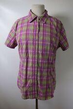 C6776 Women's THE NORTH FACE Short Sleeve Plaid Shirt Size L