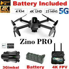 Hubsan ZINO PRO Drone 4K Camera FPV Foldable Quadcopter 3Gimbal GPS RTH+Battery