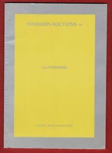 AUCTION CATALOGUE – EXCEPTIONAL CLASSIC ROMANIA
