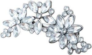 Rhinestone 3 Flower Crystal Bridal Bridesmaid Hair Clip Party Everyday wear
