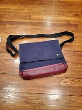 Jack Spade - Red Dipped Industrial Canvas Messenger Bag Navy GUC
