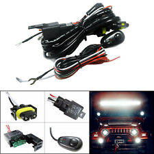 H11 H8 Relay Harness Wire Kit + LED ON/OFF Switch For Fog Lights HID Worklamp