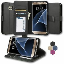 Magnetic Flip Cover Stand Wallet Leather Case Black for Samsung Galaxy A5 2016
