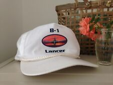 Men or women's white B-1 Lancer aircraft hat / cap with peak, one size