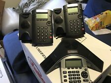 Lot of Polycom SoundStation IP 6000 VoIP Conference Phone and phones