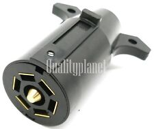 7 Way Round RV Style Trailer Light Plug Connector Replacement End Blade Pin