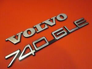 Volvo Metal 740 GLE Trunk Lid Emblems