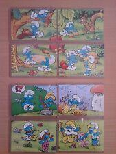 2 x Ü-Ei Puzzle komplett & BPZ      Schlümpfe 1996    8 Teile & 8 BPZ