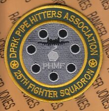 "USAF Air Force 25th Fighter Squadron FS DPRK Pipe Hitters 3.75"" patch"