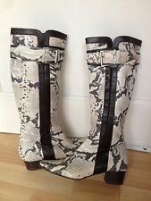 Lovely Karen Millen peau de serpent Effet Chaussures en cuir, taille EUR37-très bon état