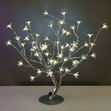 LED Baum mit 48 Lampen W-weiß Silber Lampe leuchte Led-lampe Dekobaum H45cm