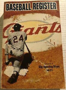 1971 BASEBALL Register SAN FRANCISCO Giants WILLIE MAYS Carl YASTZEMSKI Aaron