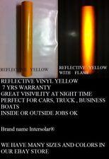 "24"" x 50 ft  YELLOW  Reflective Vinyl Adhesive Cutter Sign Hight Reflectivity"