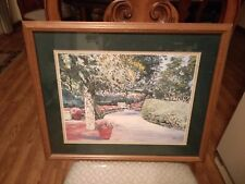 Home Interiors Garden Pathway with bench Picture 17.5''x 21'' Gorgeous